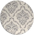 rug #1325748 | round white traditional rug