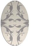 rug #1325760 | oval white damask rug