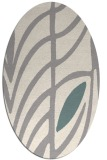 rug #1325980 | oval white abstract rug