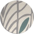 rug #1325988 | round white abstract rug