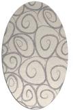 rug #1326060 | oval white circles rug