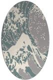 rug #1326260 | oval beige graphic rug