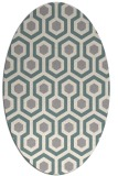 rug #1326340 | oval white geometry rug