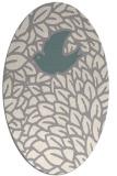 rug #1326360 | oval beige graphic rug