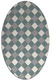 rug #1326380 | oval beige check rug