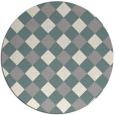 rug #1326388   round beige check rug