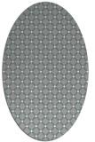 rug #1326400 | oval white check rug