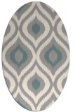 rug #1326460 | oval beige animal rug