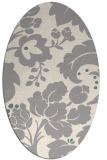 rug #1326500 | oval beige damask rug