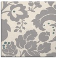 rug #1326516 | square white damask rug