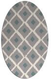 rug #1326700   oval beige retro rug