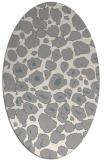 rug #1326900 | oval white animal rug