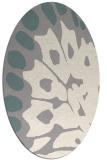 rug #1326940 | oval white abstract rug