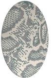 rug #1326960 | oval beige animal rug