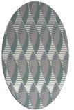 rug #1326980 | oval white circles rug