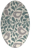 rug #1327000 | oval white natural rug