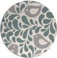 rug #1327008 | round beige animal rug
