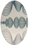 rug #1327040 | oval white circles rug
