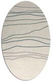 rug #1327080 | oval beige stripes rug