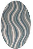 rug #1327320 | oval white abstract rug