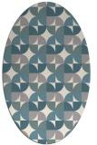 rug #1327340 | oval white retro rug