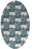 rug #1327341 | oval retro rug