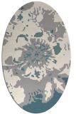 rug #1327360 | oval white abstract rug