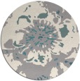 rug #1327368 | round white abstract rug