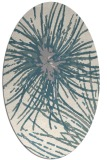 rug #1327400 | oval white abstract rug