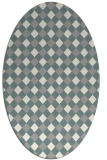 rug #1327440 | oval white check rug
