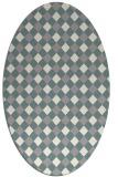 rug #1327440 | oval beige check rug