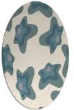 rug #1327520 | oval beige graphic rug