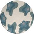 rug #1327528 | round white natural rug
