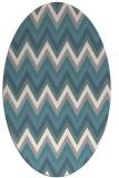 rug #1327660 | oval white stripes rug