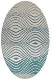 rug #1327700   oval white stripes rug