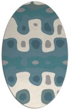 rug #1327740   oval white abstract rug