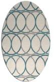 rug #1327820   oval beige retro rug