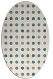 rug #1327860 | oval white retro rug