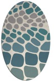 rug #1327920 | oval white circles rug