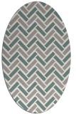 rug #1328200 | oval beige retro rug
