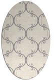 rug #1328240 | oval white traditional rug