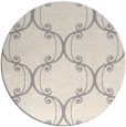 rug #1328248   round white traditional rug