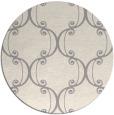 rug #1328248 | round beige damask rug