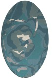 rug #1328280 | oval beige graphic rug