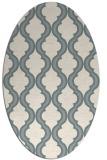 rug #1328380   oval white traditional rug