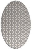 rug #1328400 | oval beige circles rug