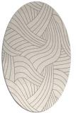 rug #1328480 | oval beige abstract rug