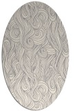 rug #1328540 | oval white abstract rug