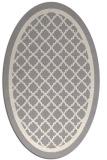 rug #1328680 | oval white borders rug