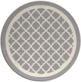 rug #1328688 | round white traditional rug